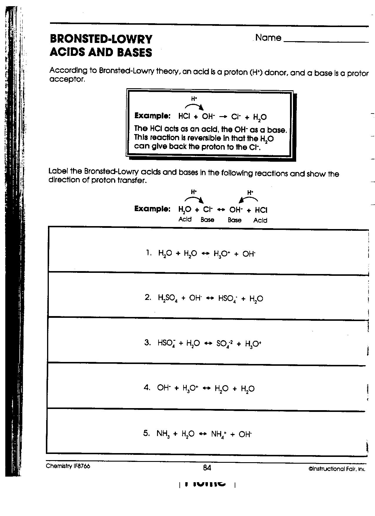 Worksheets Bronsted-lowry Acids And Bases Worksheet chem iib mr phelps big rapids hs download file